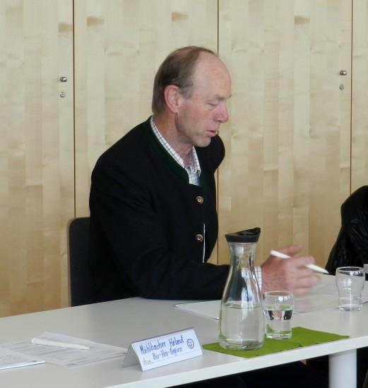 Keil Franz erklärt das Erfolgsrezept der Bio-Heu-Region