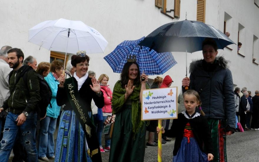 Der Umzug wurde trotz Regen durchgeführt. Insgesamt war es ein sehr gut organisiertes Fest