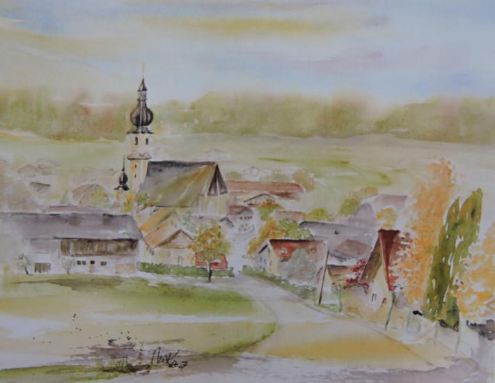 Aquarell von Berndorf gemalt von Maria Kohlbacher