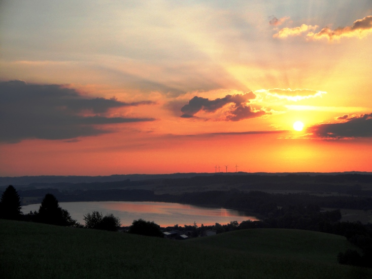 Sonnenaufgang über dem Grabensee