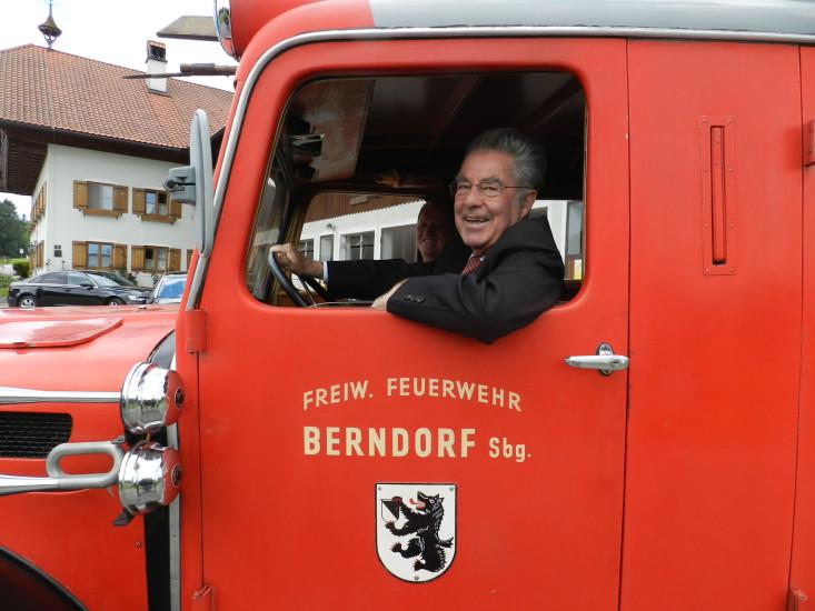 Bio-Heu-Region, Berndorf, Bundespräsident Heinz Fischer