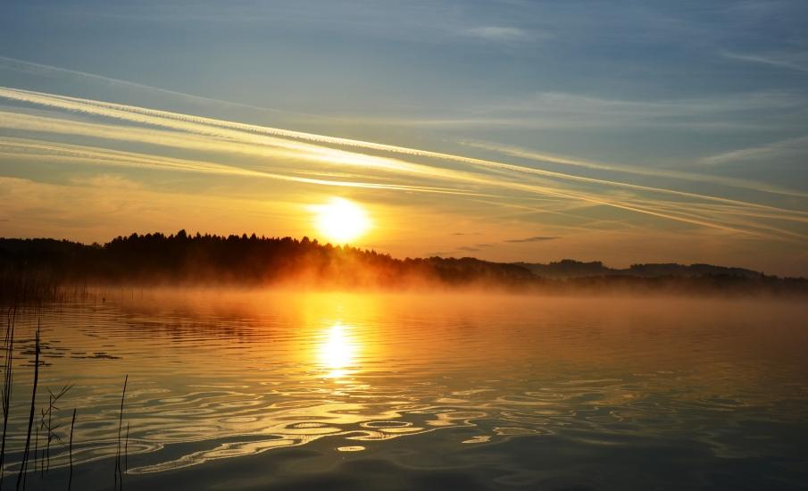 Sonnenaufgang am Grabensee fotografiert vom 18.05.2015 um 04.55 Uhr