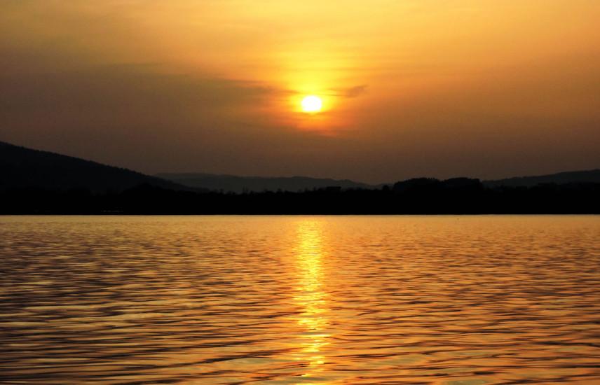 Bio-Heu-Region, Sonnenuntergang Mondsee 8