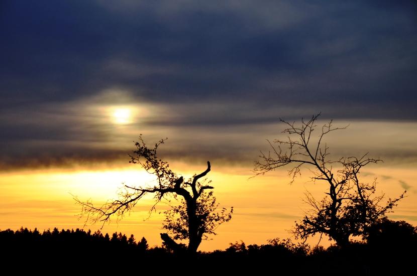 so sieht ein Sonnenuntergang in Oberndorf aus.