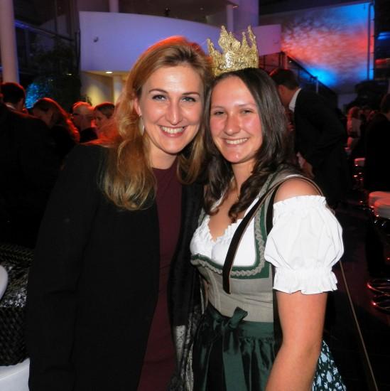 Heukönigin Lorena mit Frau Christine Rupprechter- Rödlach