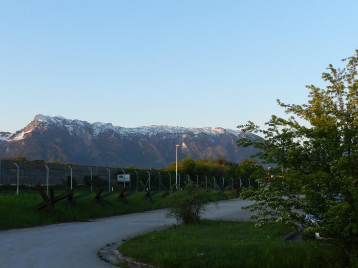 Untersberg - erster Blick bei der Ankunft am Arbeitsplatz