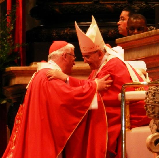 Erzbischof Franz Lackner mit Papst Franziskus