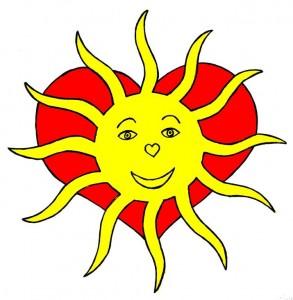 Herz und Liebe = die Sonne im eigenen Herzen zu spüren