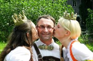 Helmut mit Lorena und Isabella 5