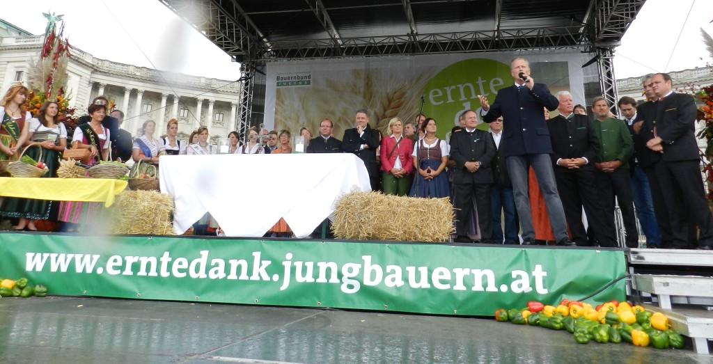 Heukönigin Lorena beim Erntedankfest in Wien 2014 Foto Helmut Mühlbacher (134)