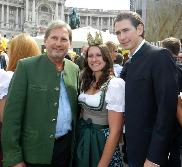 Heukönigin Lorena beim Erntedankfest in Wien 2014 Foto Helmut Mühlbacher (61)
