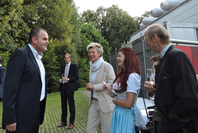 Herzlicher Empfang durch ORF Landesdirektor Roland Brunhofer