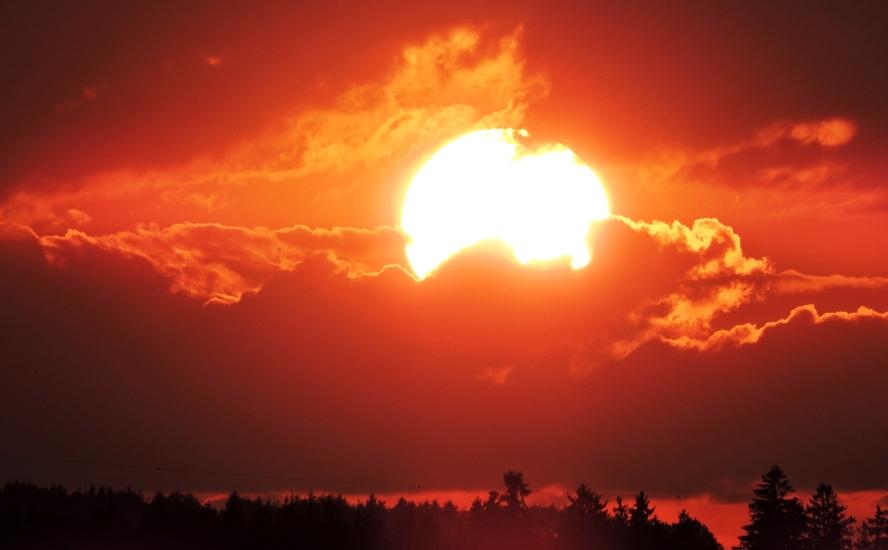 Sonnenuntergang über dem Haunsberg am 13.06.2015