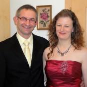 Mit meiner Frau Karin beim ausgehen