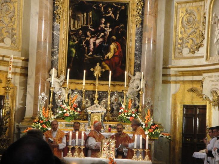 Abschluss und Dankgottesdienst in der Kirche Santa Maria Dell Anima mit der Krönungsmesse von Mozart als Höhepunkt dieses Gottesdienstes