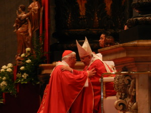 Erzbischof Franz Lackner und Papst Franziskus