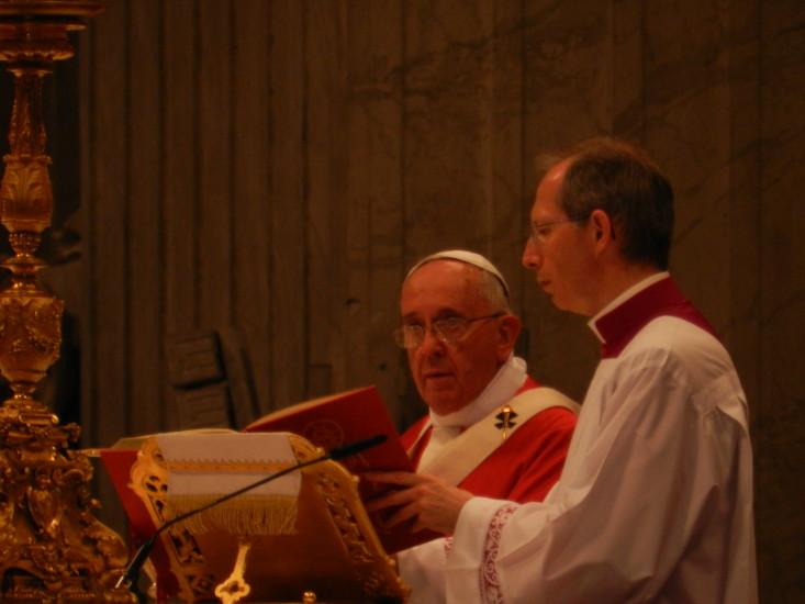 So Nahe durfte ich im Petersdom bei der Messe mit Papst Franziskus dabei sein.
