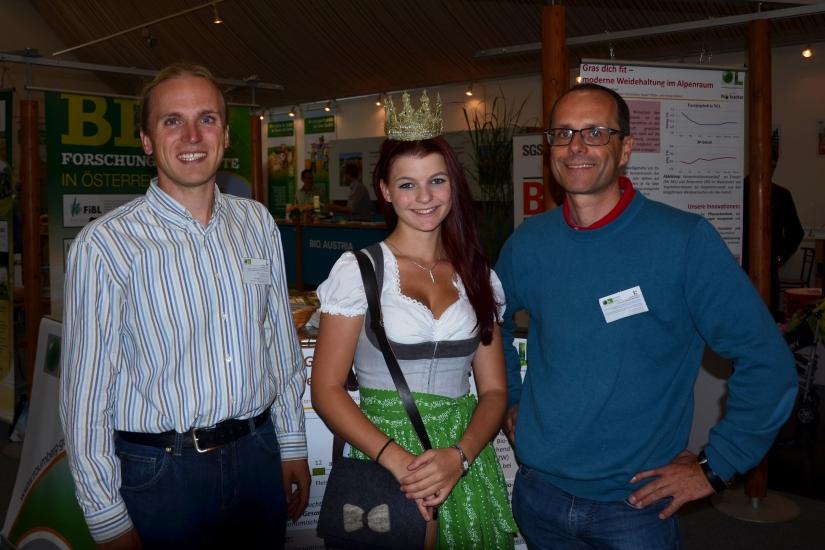 Andreas Steinwidder und Walter Starz von Raumberg Gumpenstein mit Maria