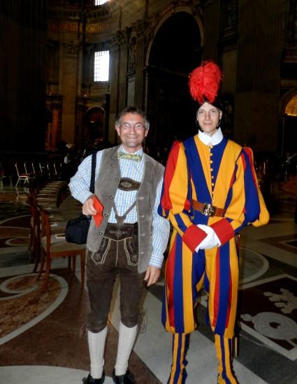 Pure Lebensfreude schon beim betreten der Peterskirche mit der Schweizer Garde