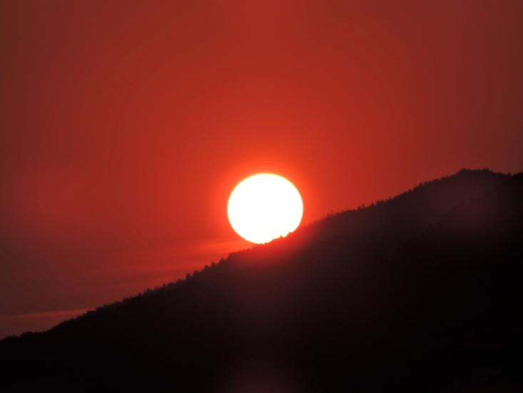 Sonnenaufgang 5 am 14.08.2015