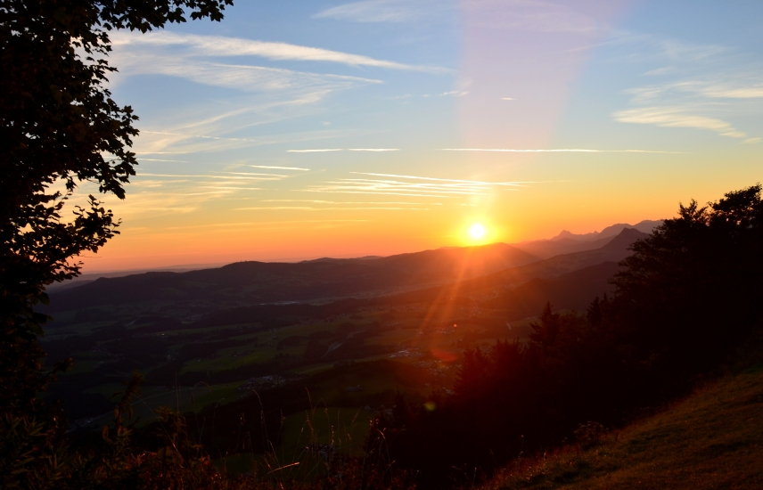 Sonnenaufgang am Gaisberg im August
