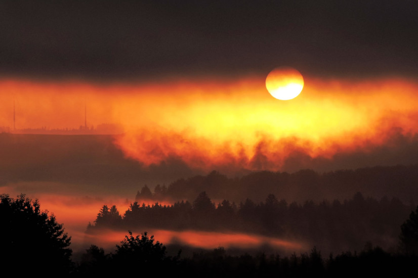 Sonnenaufgang Nebel 7