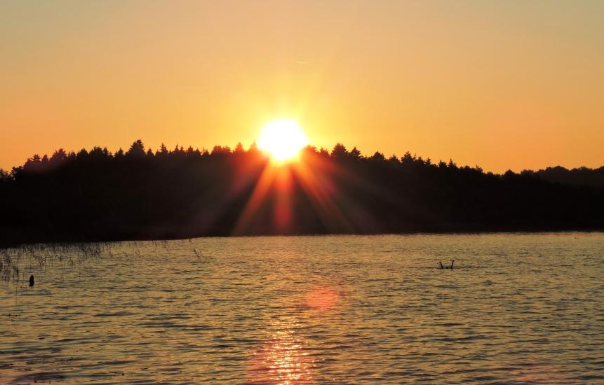 Sonnenaufgang am Grabensee fotografiert am 16.07.2015 um 06:06