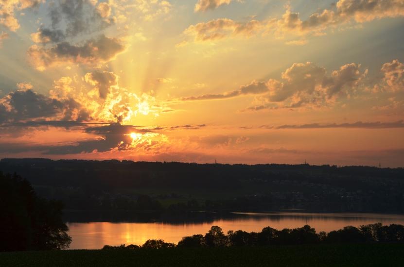 Sonnenuntergang am 13.06.2015 um 19.36 Uhr