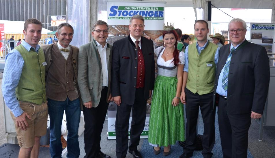 Fam. Stockinger mit Minister und Landesrat