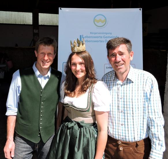 Georg Dygruber und Micheal Geiersberger mit Königin Lorena