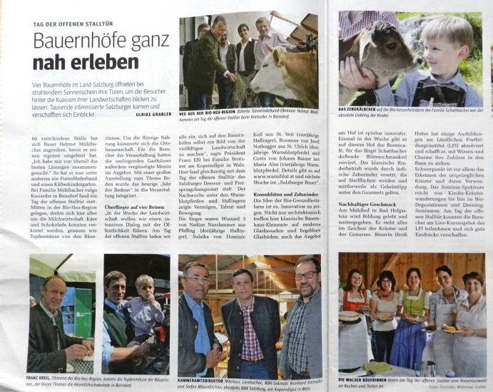 Tag der offenen Stalltür - Salzburger Bauer
