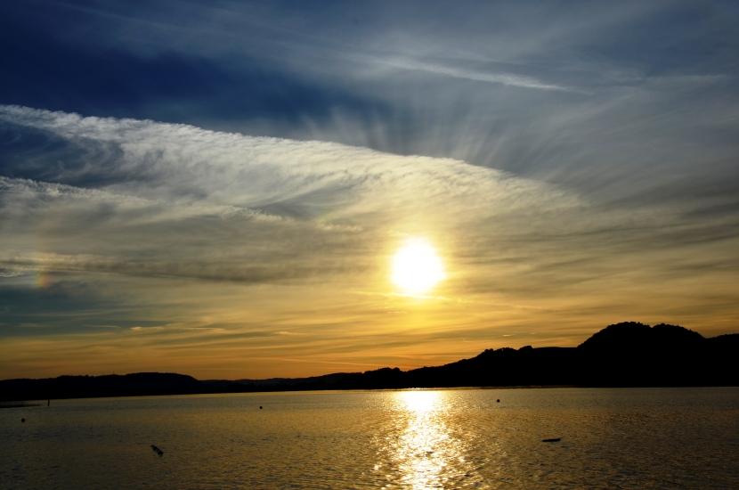 Sonnenaufgang in Seeham am Obertrumersee